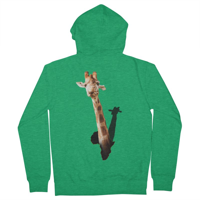 Funny giraffe popping out of Africa Women's Zip-Up Hoody by heilimo's Artist Shop