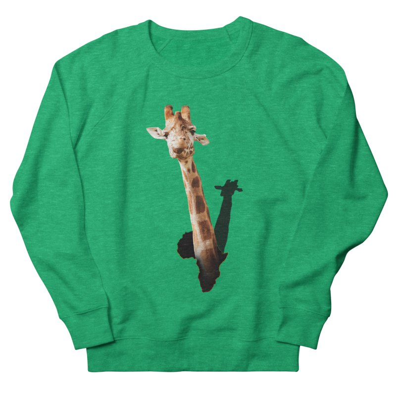 Funny giraffe popping out of Africa Women's Sweatshirt by heilimo's Artist Shop