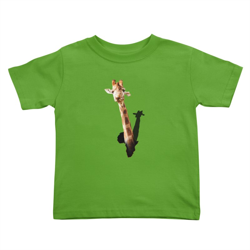 Funny giraffe popping out of Africa Kids Toddler T-Shirt by heilimo's Artist Shop