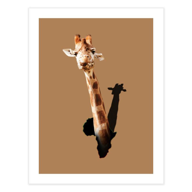 Funny giraffe popping out of Africa Home Fine Art Print by heilimo's Artist Shop