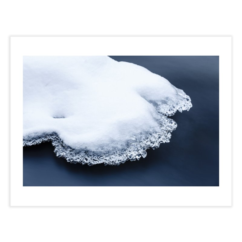Ice, snow and moving water Home Fine Art Print by heilimo's Artist Shop