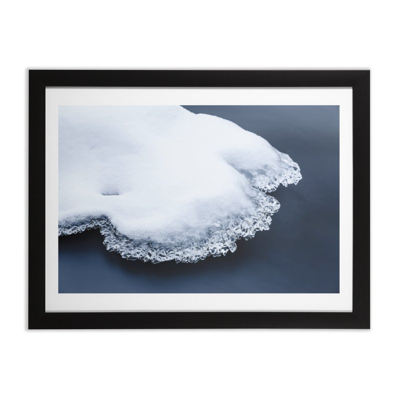Ice, snow and moving water Home Framed Fine Art Print by heilimo's Artist Shop