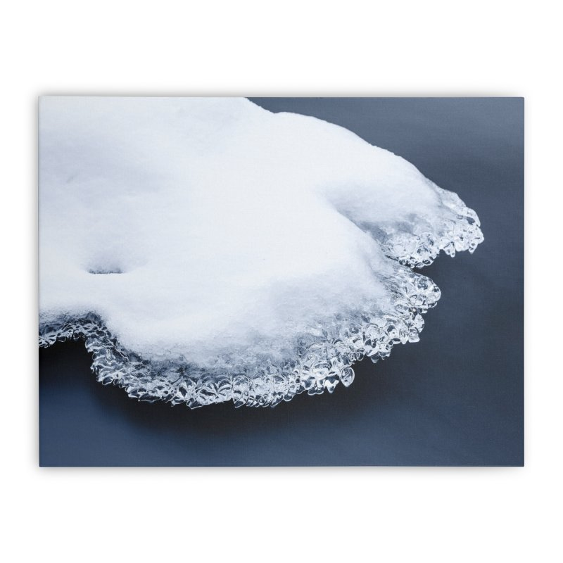 Ice, snow and moving water Home Stretched Canvas by heilimo's Artist Shop
