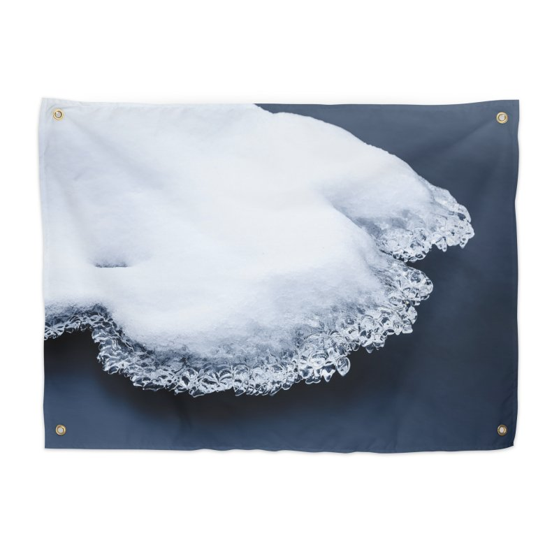 Ice, snow and moving water Home Tapestry by heilimo's Artist Shop