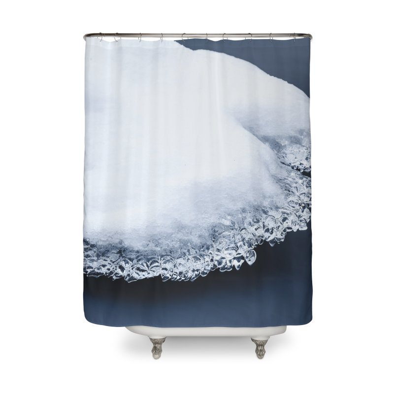 Ice, snow and moving water Home Shower Curtain by heilimo's Artist Shop