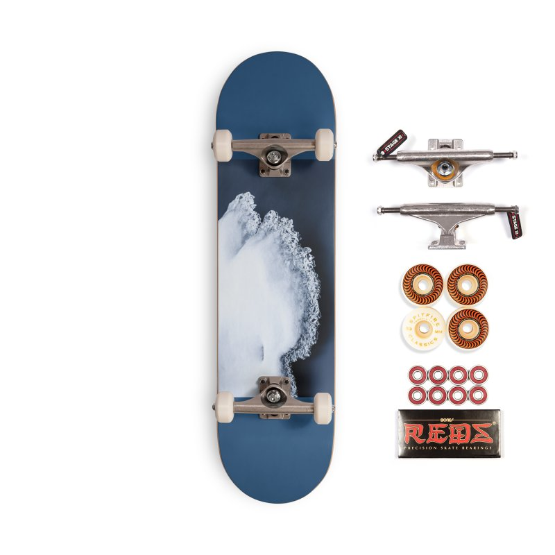 Ice, snow and moving water Accessories Skateboard by heilimo's Artist Shop