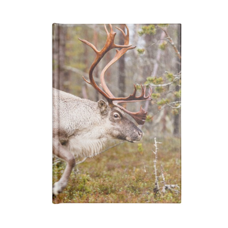 Reindeer walking in the forest Accessories Notebook by heilimo's Artist Shop