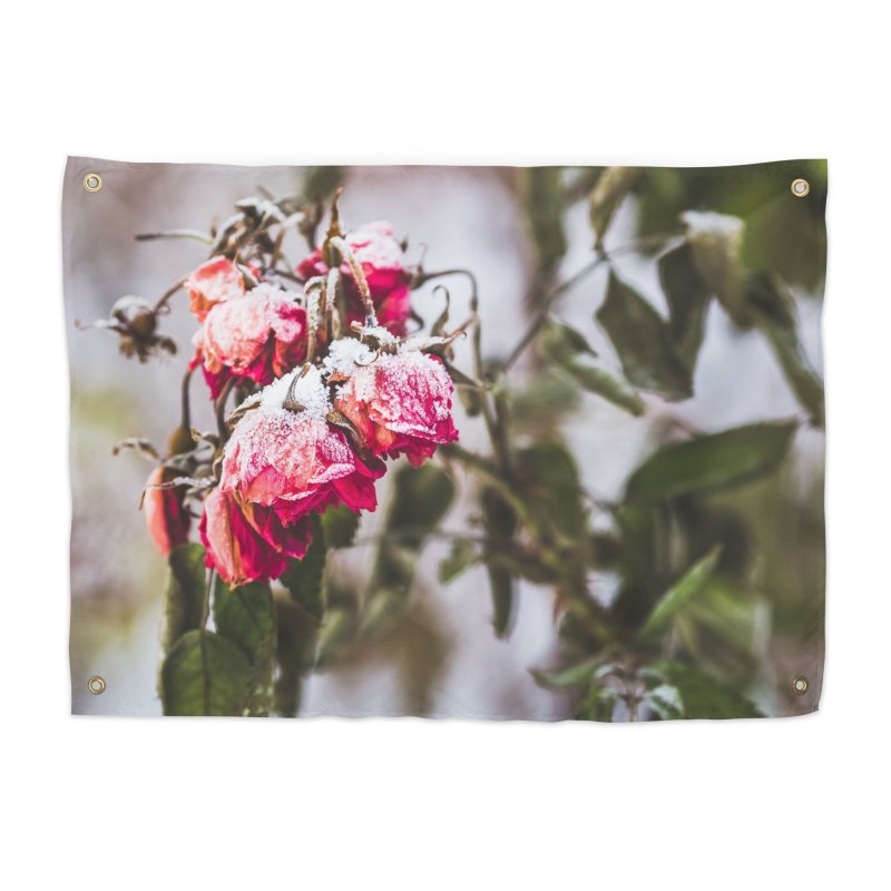 Frozen red roses Home Tapestry by heilimo's Artist Shop