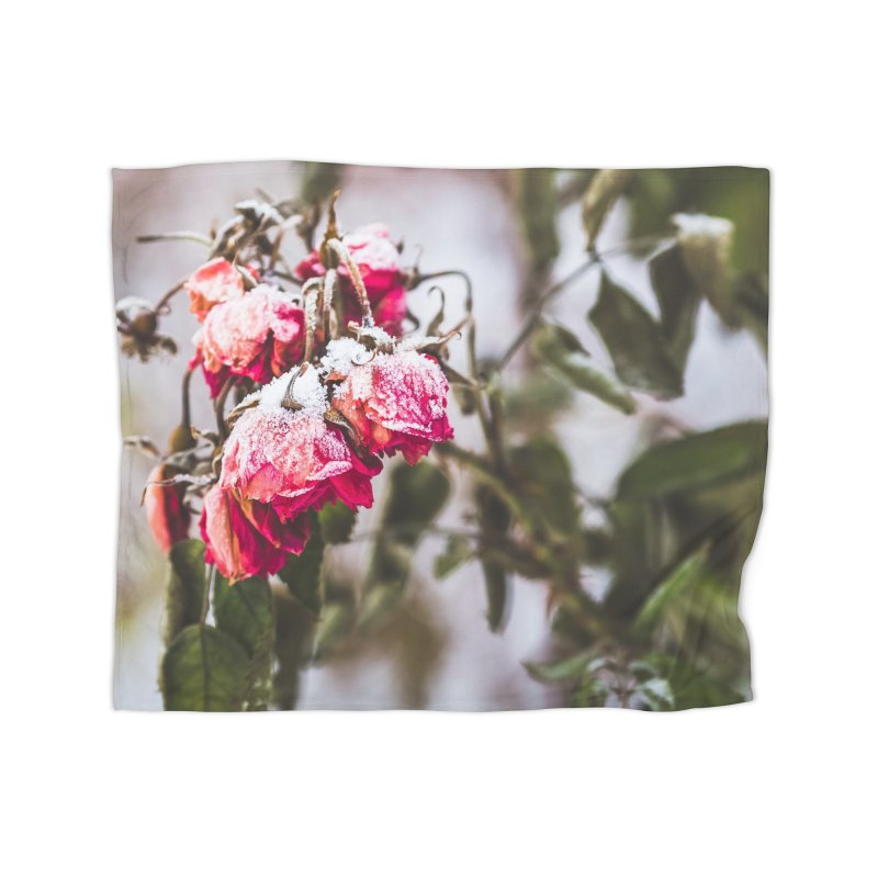 Frozen red roses Home Blanket by heilimo's Artist Shop