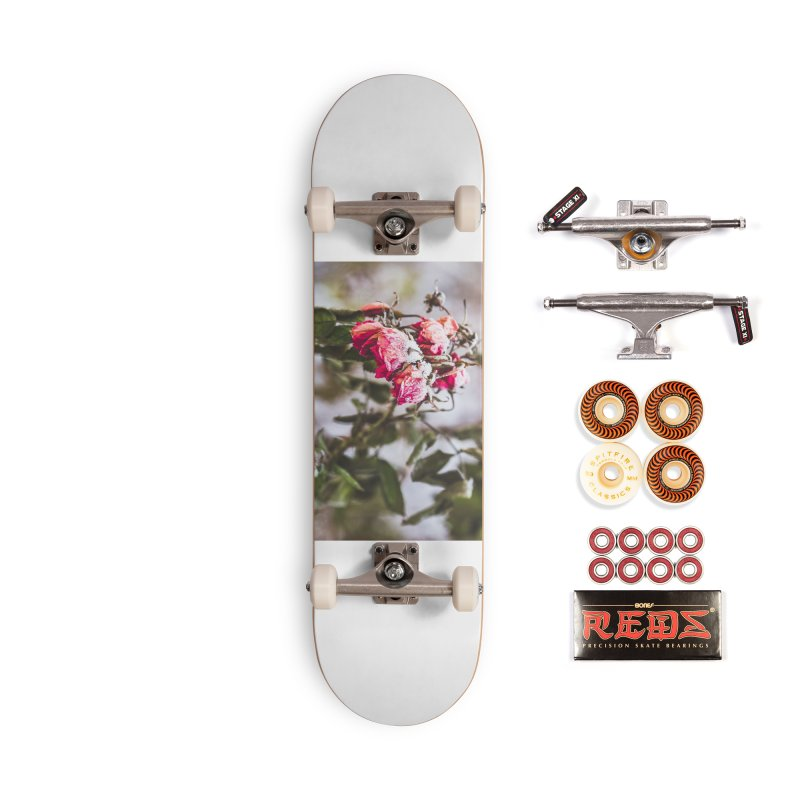 Frozen red roses Accessories Skateboard by heilimo's Artist Shop
