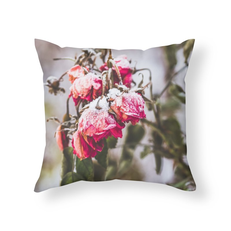 Frozen red roses Home Throw Pillow by heilimo's Artist Shop