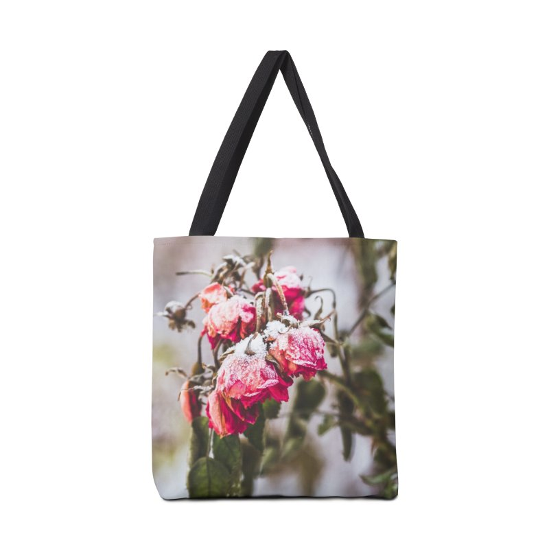 Frozen red roses Accessories Bag by heilimo's Artist Shop