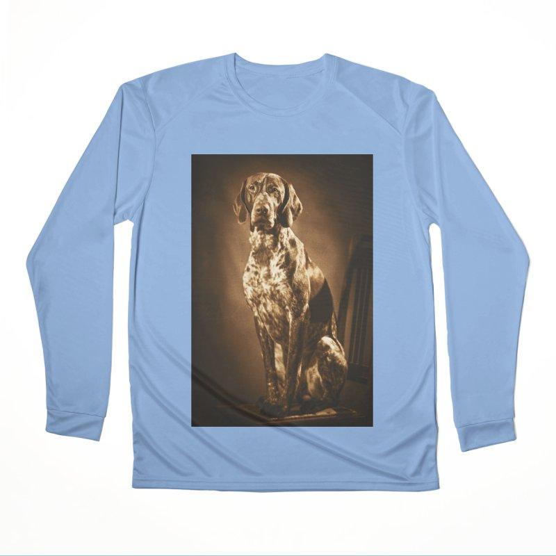 German shorthaired pointer vintage portrait Men's Longsleeve T-Shirt by heilimo's Artist Shop
