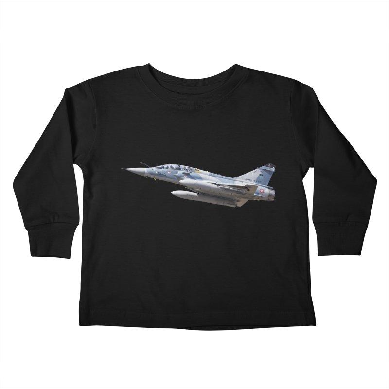 Dassault Mirage 2000D (cutout) Kids Toddler Longsleeve T-Shirt by heilimo's Artist Shop