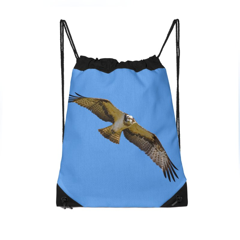 Flying osprey with a target in sight (cutout with blue background) Accessories Bag by heilimo's Artist Shop