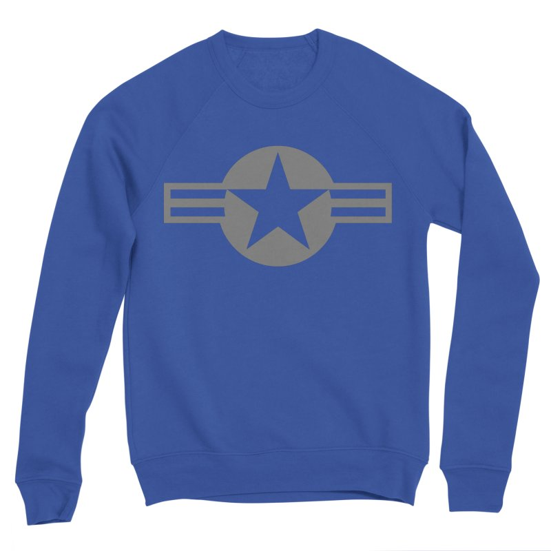 Low Visibility Grey Roundel of the United States Air Force Men's Sweatshirt by heilimo's Artist Shop