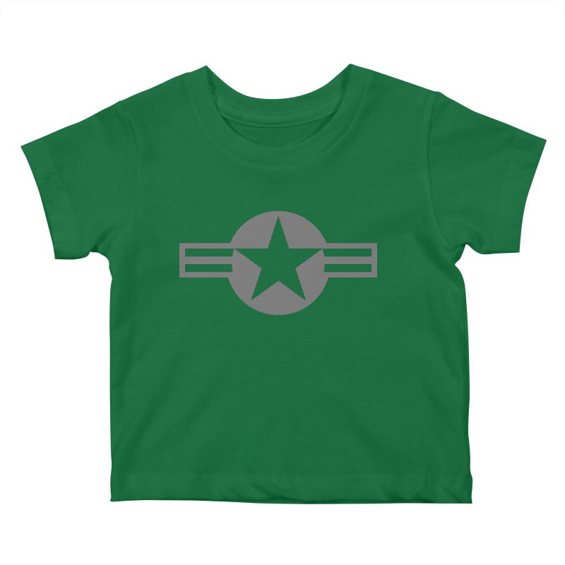 Low Visibility Grey Roundel of the United States Air Force Kids Baby T-Shirt by heilimo's Artist Shop