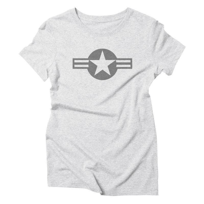 Low Visibility Grey Roundel of the United States Air Force Women's T-Shirt by heilimo's Artist Shop