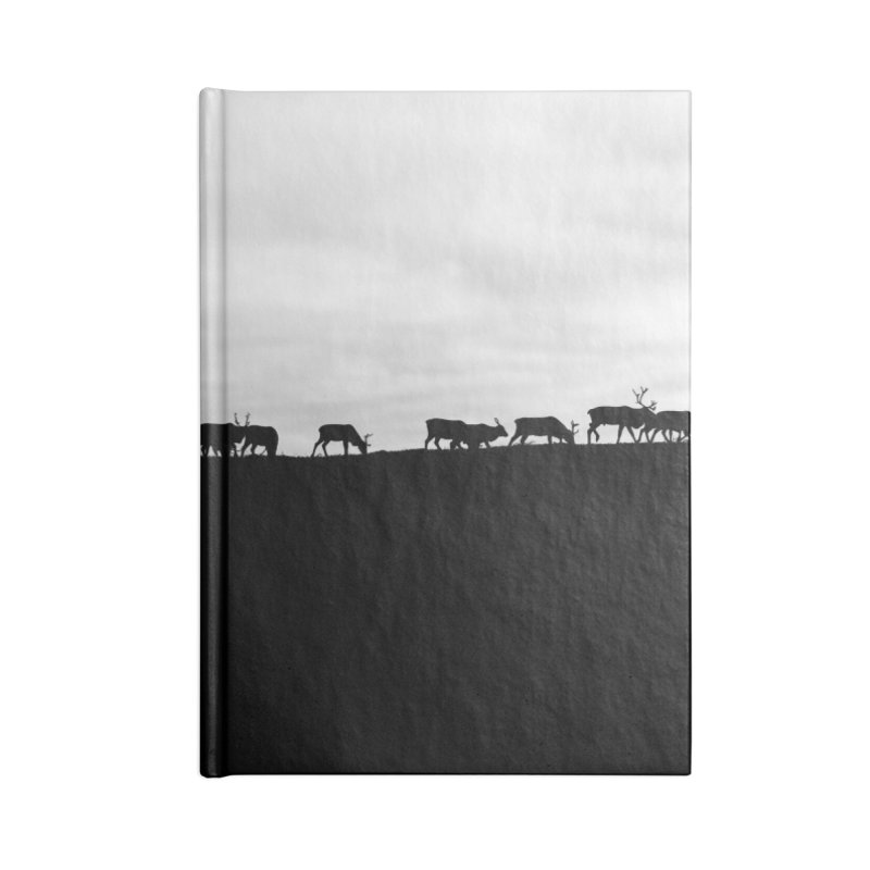Herd of Reindeers on top of Kiilopää Fell Accessories Notebook by heilimo's Artist Shop