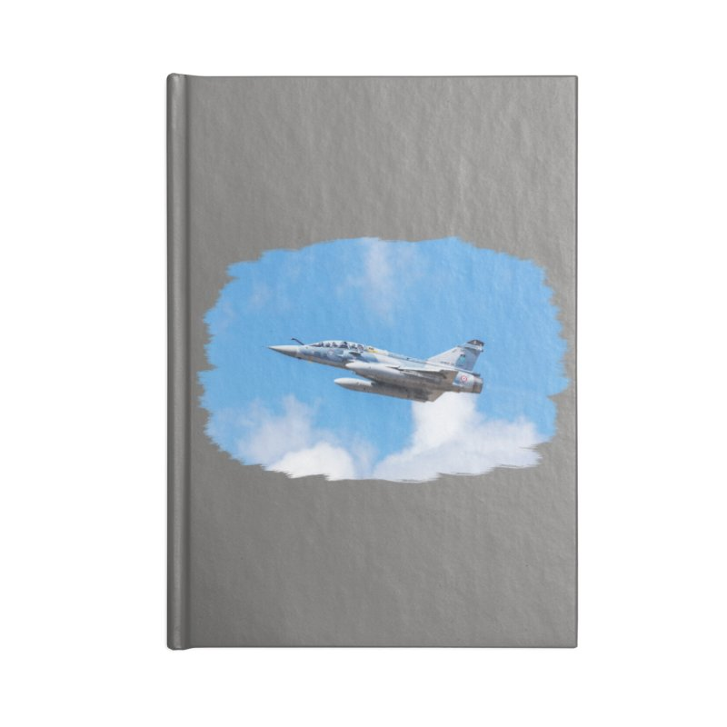 Dassault Mirage 2000B taking off (brushed border) Accessories Notebook by heilimo's Artist Shop