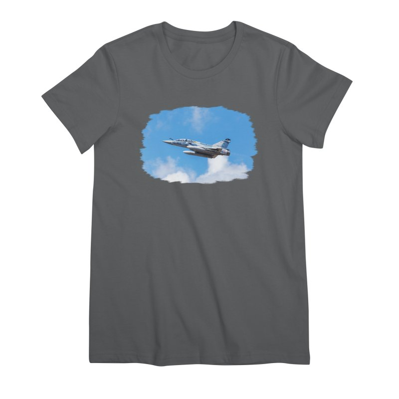 Dassault Mirage 2000B taking off (brushed border) Women's T-Shirt by heilimo's Artist Shop