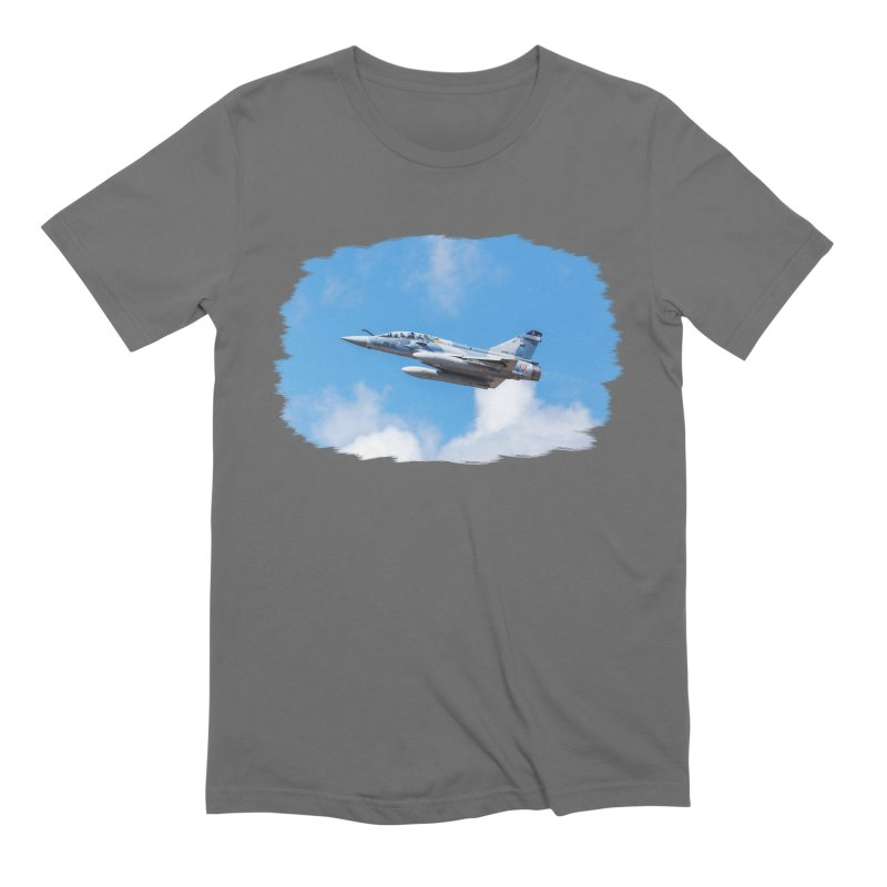 Dassault Mirage 2000B taking off (brushed border) Men's T-Shirt by heilimo's Artist Shop