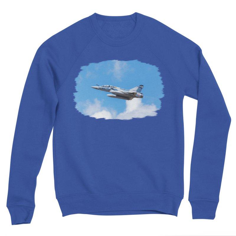 Dassault Mirage 2000B taking off (brushed border) Men's Sweatshirt by heilimo's Artist Shop