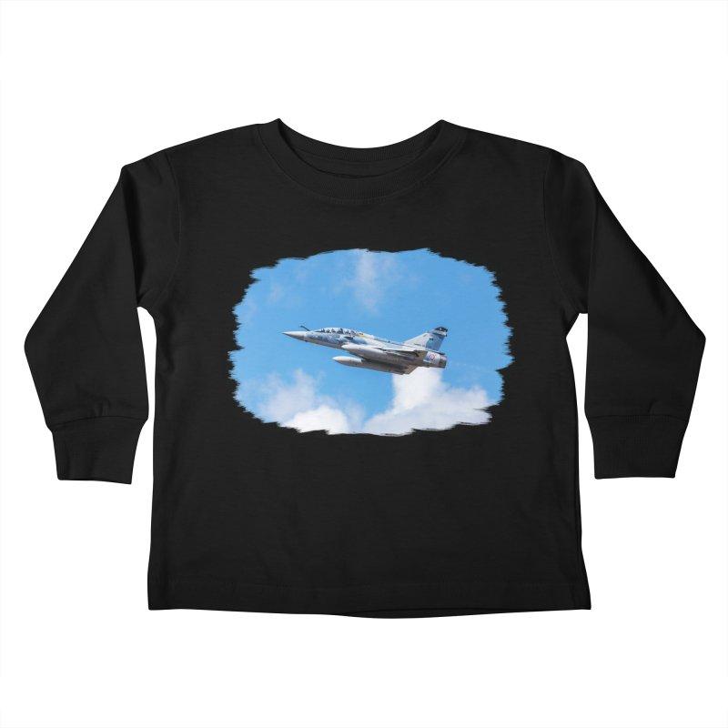Dassault Mirage 2000B taking off (brushed border) Kids Toddler Longsleeve T-Shirt by heilimo's Artist Shop