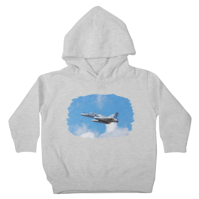 Dassault Mirage 2000B taking off (brushed border) Kids Toddler Pullover Hoody by heilimo's Artist Shop