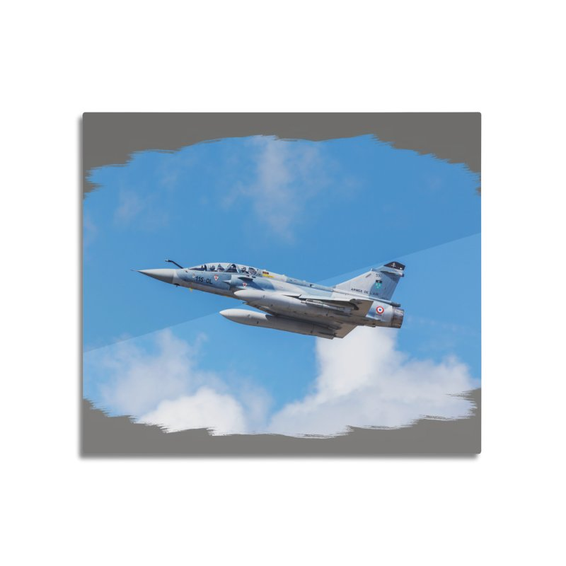 Dassault Mirage 2000B taking off (brushed border) Home Mounted Aluminum Print by heilimo's Artist Shop