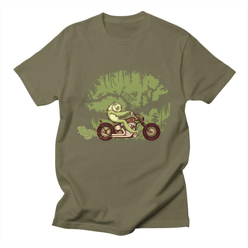 sloth racer Men's T-Shirt by Heldenstuff