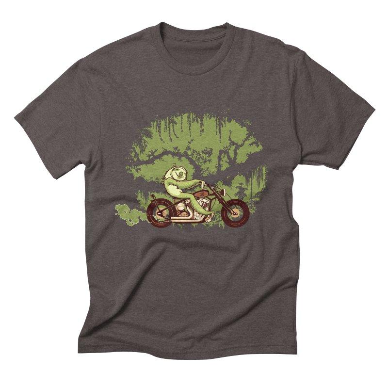 sloth racer Men's Triblend T-shirt by Heldenstuff