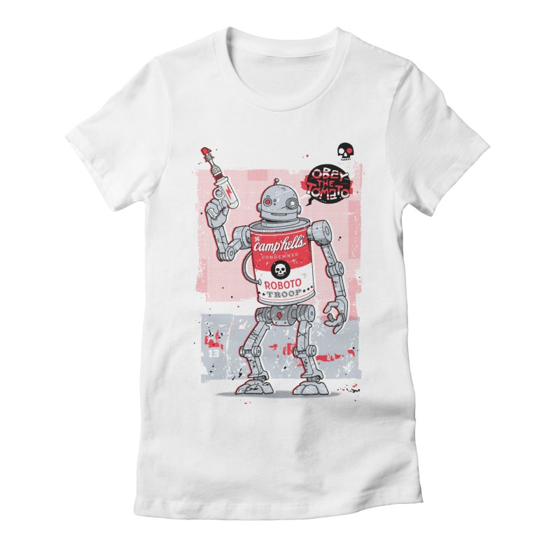 Tin Trooper Women's Fitted T-Shirt by Heldenstuff
