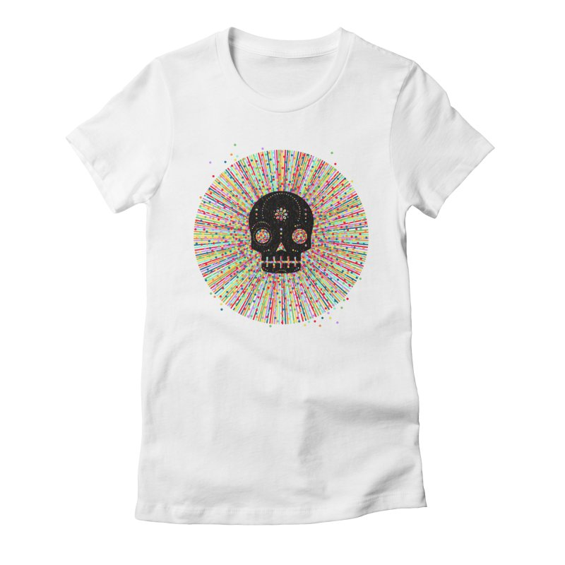 Sugar Deady Rush Women's Fitted T-Shirt by Heldenstuff