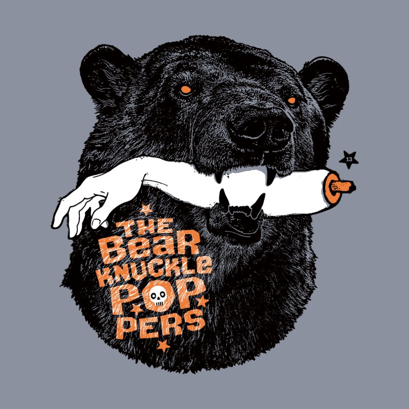 The bear knuckle poppers Men's T-Shirt by Heldenstuff
