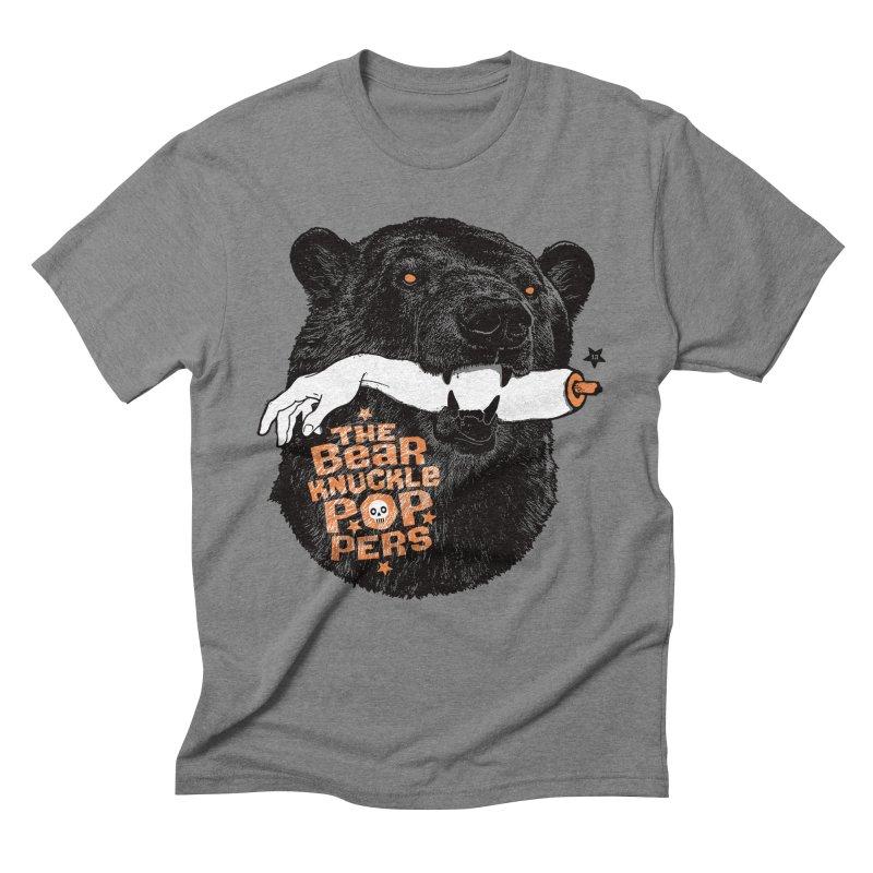 The bear knuckle poppers Men's Triblend T-shirt by Heldenstuff