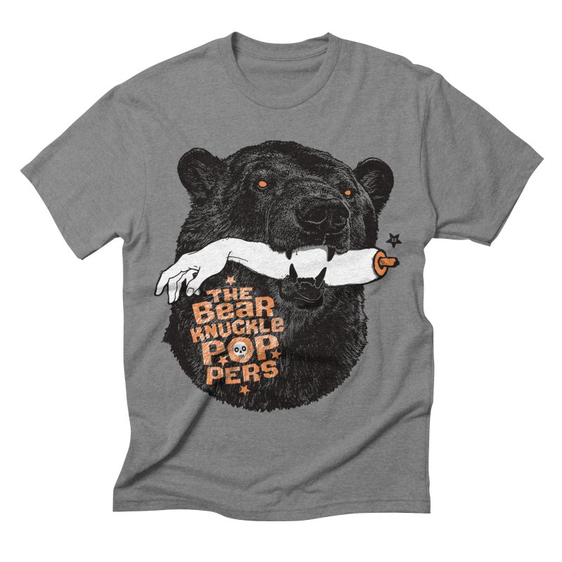 The bear knuckle poppers Men's Triblend T-shirt by Heldenstuff