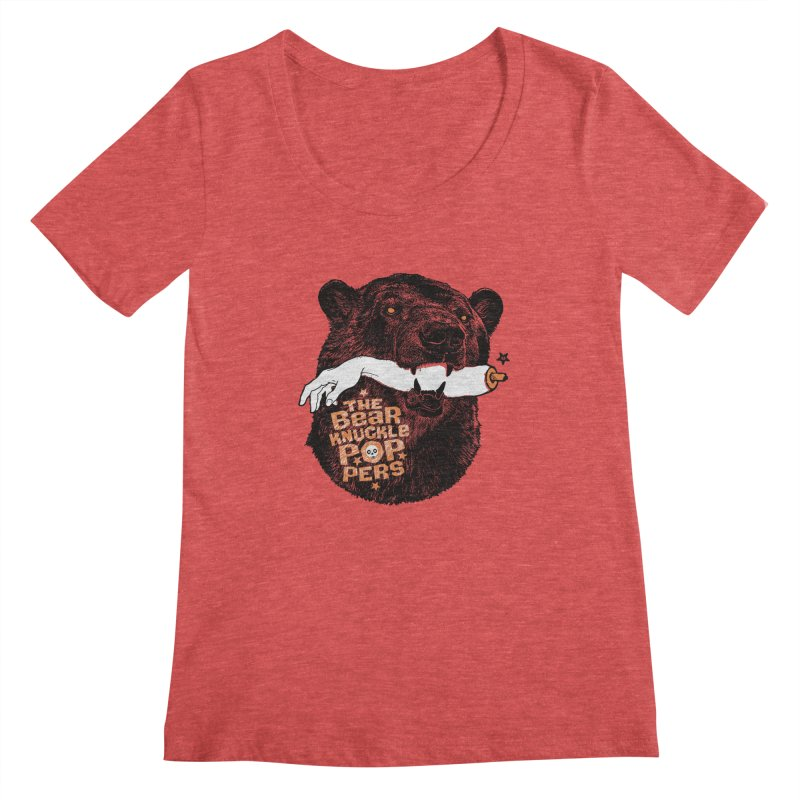 The bear knuckle poppers Women's Scoopneck by Heldenstuff