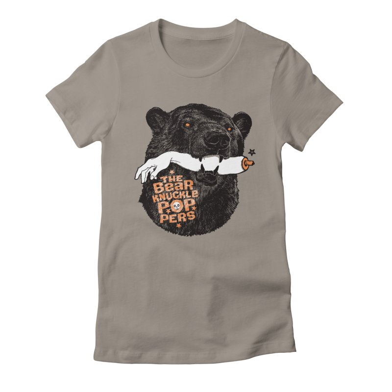 The bear knuckle poppers Women's Fitted T-Shirt by Heldenstuff