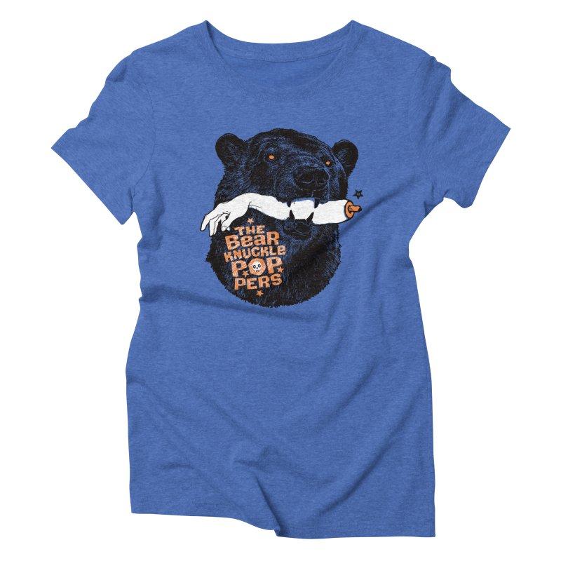 The bear knuckle poppers Women's Triblend T-shirt by Heldenstuff