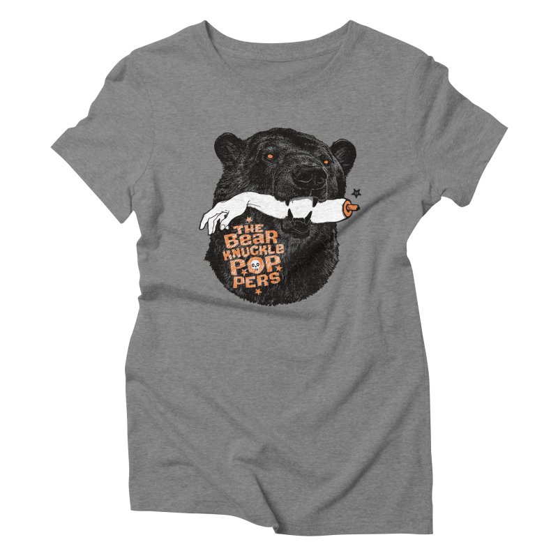 The bear knuckle poppers Women's Triblend T-Shirt by Heldenstuff