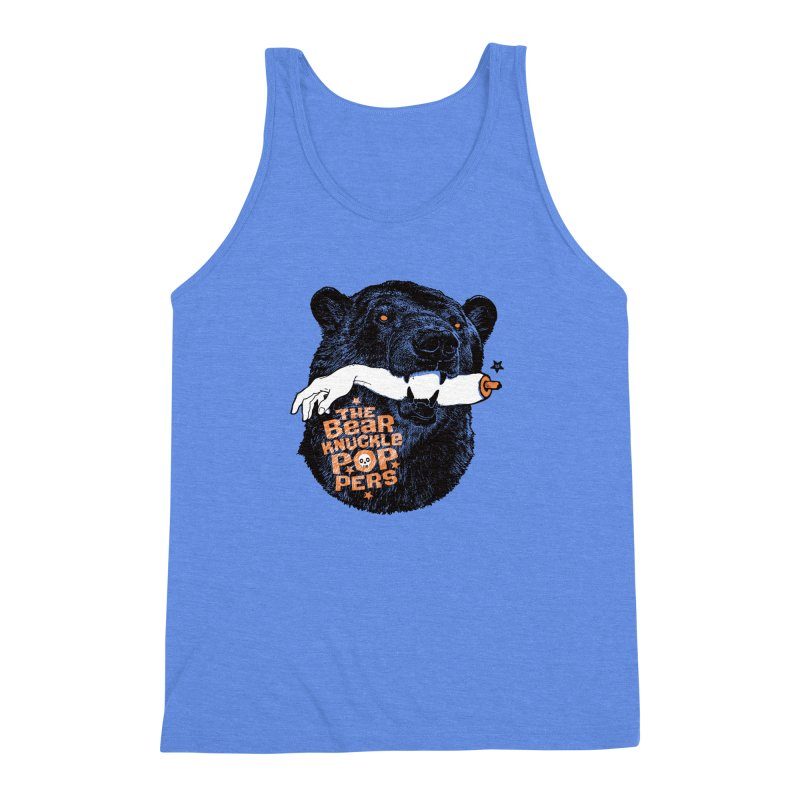 The bear knuckle poppers Men's Triblend Tank by Heldenstuff