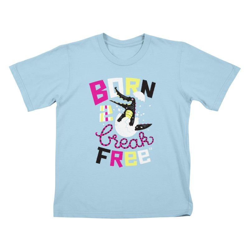 born to break free Kids T-shirt by Heldenstuff