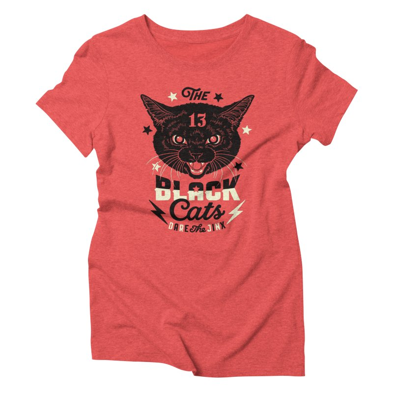 The 13 black cats Women's Triblend T-Shirt by Heldenstuff