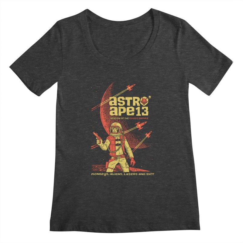 astro ape Women's Scoopneck by Heldenstuff