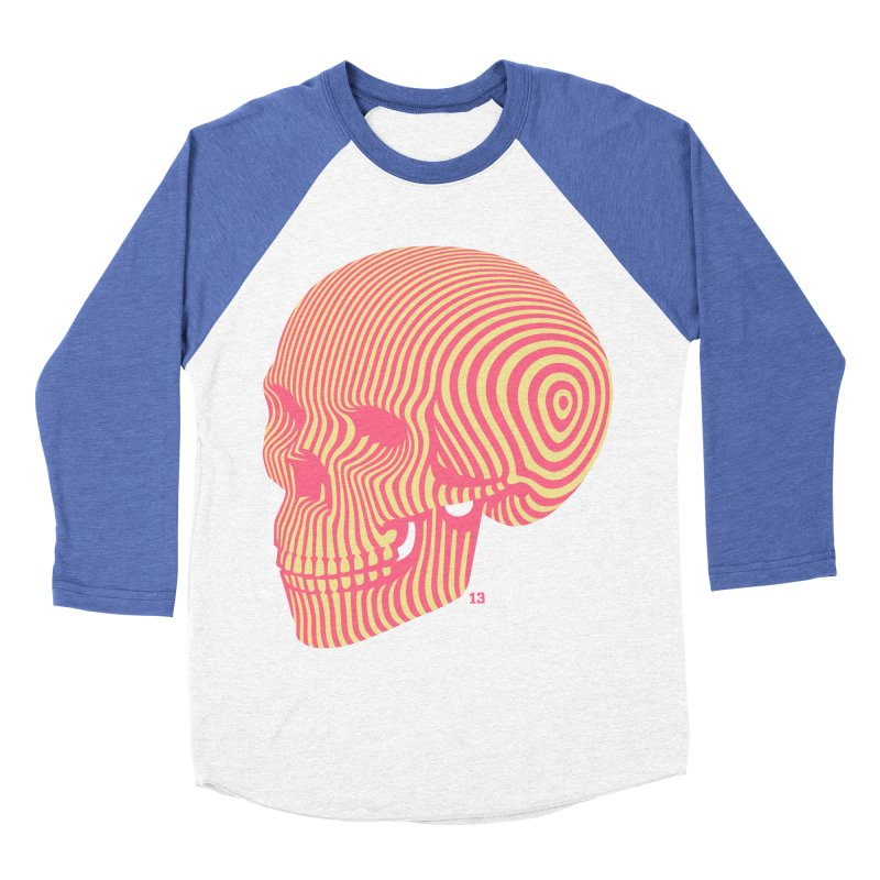 skull no. 1 Men's Baseball Triblend T-Shirt by Heldenstuff