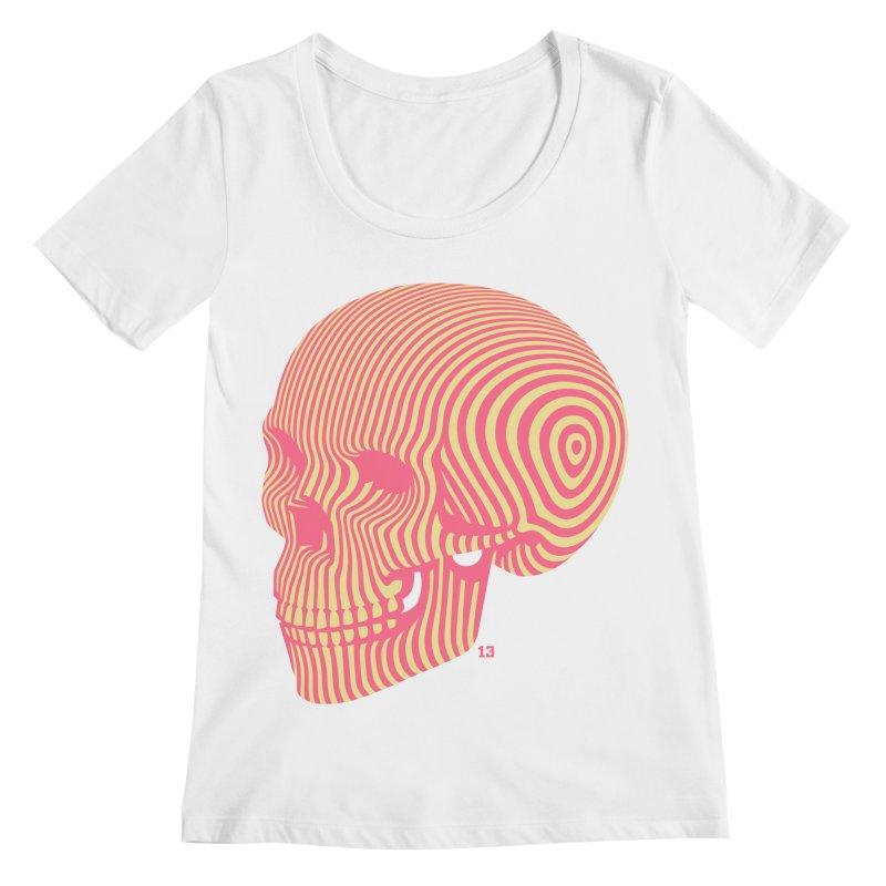 skull no. 1 Women's Scoopneck by Heldenstuff