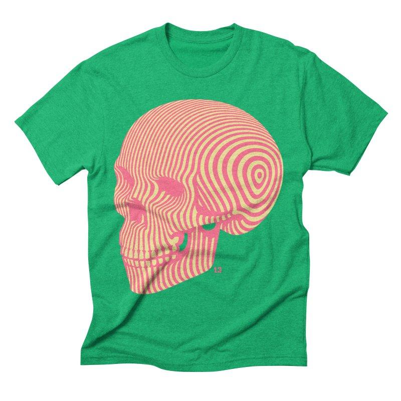 skull no. 1 Men's Triblend T-shirt by Heldenstuff