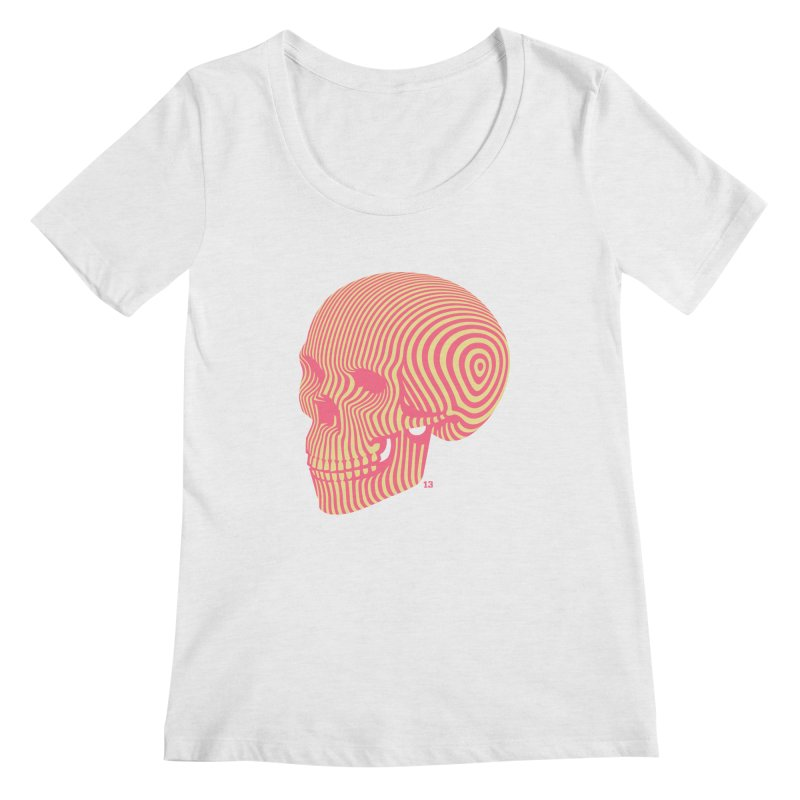 skull no. 1 Women's Scoopneck by Heldenstuff