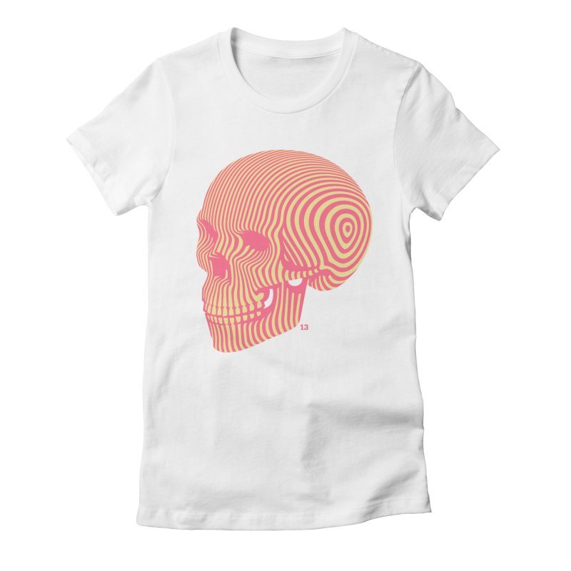 skull no. 1 Women's Fitted T-Shirt by Heldenstuff